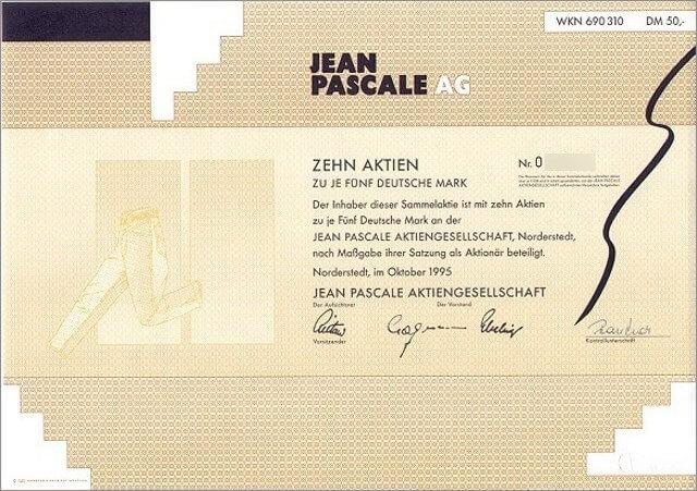 Jean Pascale AG Aktie