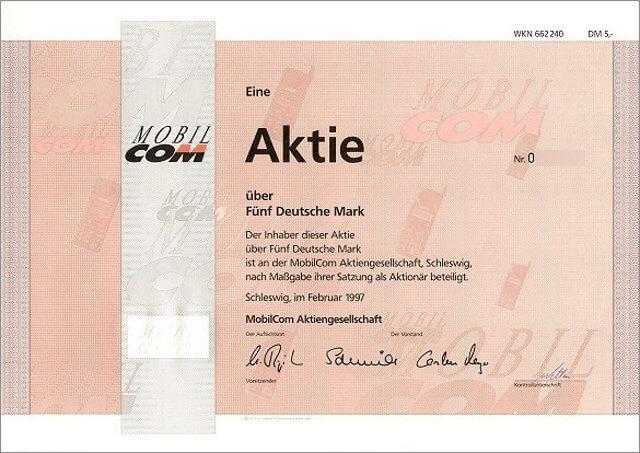 Mobilcom AG Aktie