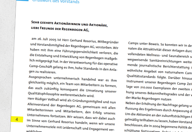 Regenbogen AG Tod Gerhard Rosorius
